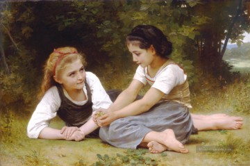 William Adolphe Bouguereau Werke - Les noisettes Realismus William Adolphe Bouguereau