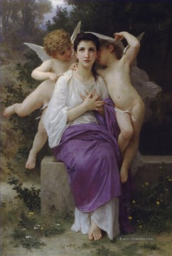 William Adolphe Bouguereau Werke - Leveil du coeur Realismus angel William Adolphe Bouguereau