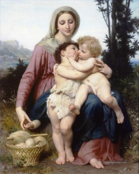 William Adolphe Bouguereau Werke - Sainte Famille Realismus William Adolphe Bouguereau