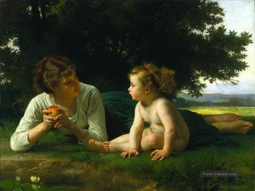 William Adolphe Bouguereau Werke - Temptation 1880 Realismus William Adolphe Bouguereau
