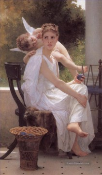 Work Interrupted Realismus angel William Adolphe Bouguereau