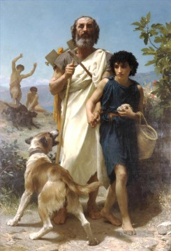 William Adolphe Bouguereau Werke - Homere et son guide Realismus William Adolphe Bouguereau