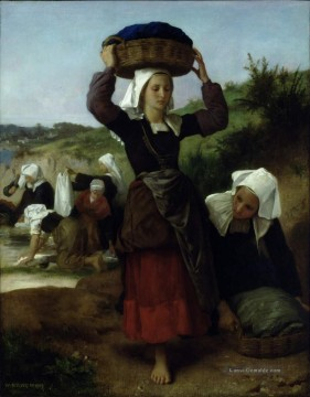 William Adolphe Bouguereau Werke - Washerwomen of Fouesnant 1869 Realismus William Adolphe Bouguereau