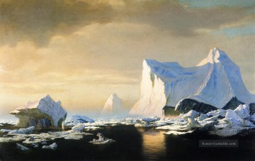 Berg Malerei - Eisberge in der Arktis William Bradford 1882 Seestück William Bradford