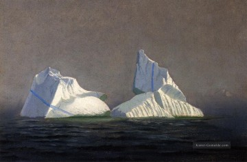 Berg Malerei - Icebergs Seestück William Bradford