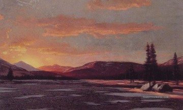 Son Galerie - Winter Sonnenuntergang Seestück William Bradford