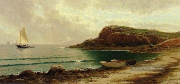 Seascape mit Dories und Segel Strand Alfred Thompson Bricher