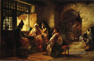 An Interesting Game Frederick Arthur Bridgman Ölgemälde