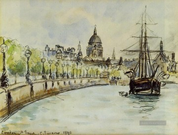 Pissarro Malerei - london st paul cathedral 1890 Camille Pissarro