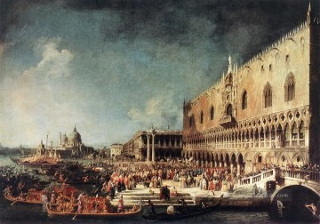 Arrival of the French Ambassador in Venedig Canaletto Ölgemälde