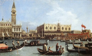 Return Of The Bucentoro To The Molo On Ascension Day Canaletto Ölgemälde