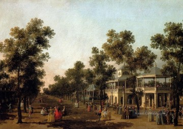 view of the grand walk vauxhall gardens with the orchestra pavilion the organ house the turkish Canaletto Ölgemälde