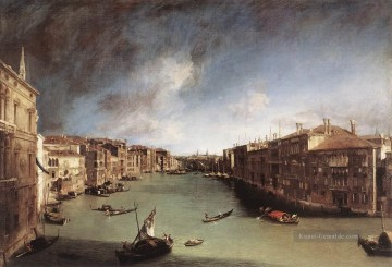 Canaletto Werke - CANALETTO Grand Canal Blick nach Nordosten von Palazo Balbi Toward The Rial Canaletto Bridge