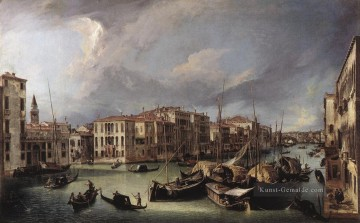 The Grand Canal with the Rialto Bridge in the Background Canaletto Ölgemälde