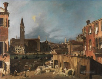 The Stonemasons Yard Canaletto Ölgemälde