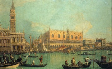 Canaletto Werke - Palazzo Ducale und der Piazza di San Marco Canaletto