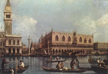 View of the Bacino di San Marco St Marks Basin Canaletto Ölgemälde