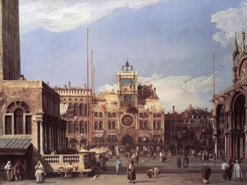 Canaletto Werke - Piazza San Marco The Clocktower Canaletto