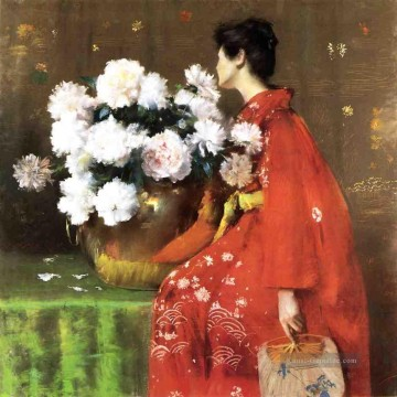 1897 Galerie - Pfingstrosen 1897 Blume William Merritt Chase