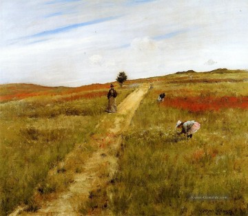 Hill Kunst - Shinnecock Hills aka Shinnecock Hills Herbst William Merritt Chase