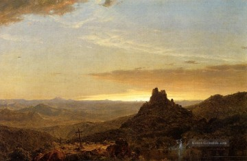 Hudson Werke - Kreuz in der Wildnis Landschaft Hudson Fluss Frederic Edwin Church