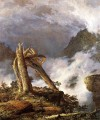 Sturm in der Berge Landschaft Hudson Fluss Frederic Edwin Church
