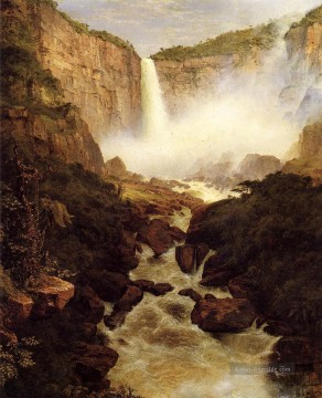 Church Kunst - Tequendama fällt nahe Bogota New Granada Landschaft Hudson Fluss Frederic Edwin Church