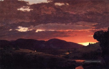 Church Kunst - TwilightShort arbitertwixt Tag und Nacht Landschaft Hudson Fluss Frederic Edwin Church