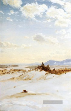 Hudson Werke - Winter Szene Olana Landschaft Hudson Fluss Frederic Edwin Church
