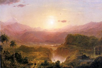 Church Kunst - Die Anden von Ecuador Landschaft Hudson Fluss Frederic Edwin Church