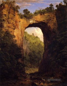 Die Natural Bridge Virginia Landschaft Hudson Fluss Frederic Edwin Church Ölgemälde