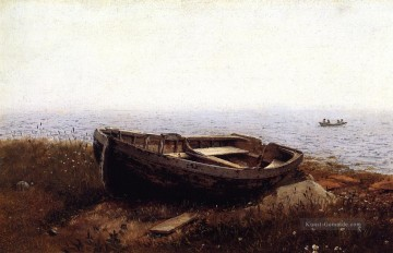 Hudson Werke - Das alte Boot aka The Abandoned Skiff Landschaft Hudson Fluss Frederic Edwin Church