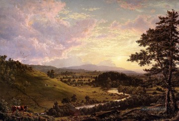Church Kunst - Ansicht in der Nähe von Stockbridge Messe Landschaft Hudson Fluss Frederic Edwin Church
