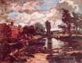 Flatford Mill from the lock romantische John Constable