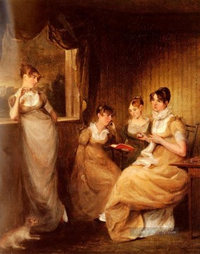John Constable Werke - Ladies From The Family Of Mr William Mason Of Colchester romantische Frau John Constable