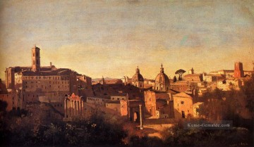 romantische romantik Ölbilder verkaufen - Forum Viewed From The Farnese Gardens plein air Romantik Jean Baptiste Camille Corot