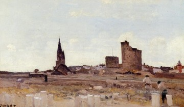 romantische romantik Ölbilder verkaufen - La Rochelle Quarry near the Port Entrance plein air Romantik Jean Baptiste Camille Corot