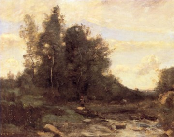 jean - Le torrent pierreaux plein air Romantik Jean Baptiste Camille Corot