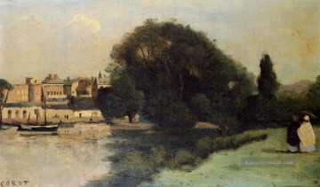 plein Malerei - Richmond in der Nähe von London plein air Romantik Jean Baptiste Camille Corot
