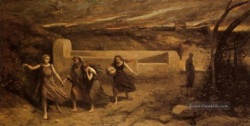 romantische romantik Ölbilder verkaufen - The Destruction of Sodom plein air Romantik Jean Baptiste Camille Corot