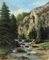 Study forLandschaft with Waterfall realistischer Maler Gustave Courbet