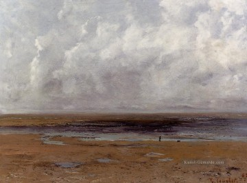 realistischer realismus Ölbilder verkaufen - The Strand at Trouville at Low Tide realistischer Maler Gustave Courbet