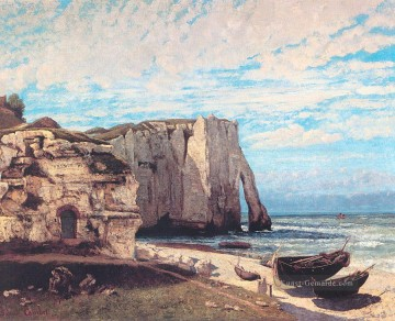 realistischer realismus Ölbilder verkaufen - The Cliff at Etretat After the Storm realistischer Maler Gustave Courbet