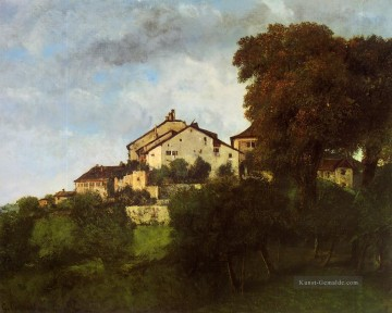 realistischer realismus Ölbilder verkaufen - The Houses of the Chateau d Ornans realistischer Maler Gustave Courbet