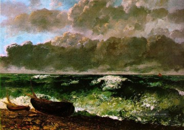 realistischer realismus Ölbilder verkaufen - The Stormy Sea or The Wave WBM realistischer Maler Gustave Courbet
