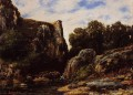 A Waterfall in the Jura realistischer Maler Gustave Courbet