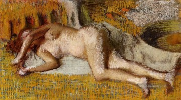 Nach dem Bad 3 Nacktheit Ballettdancer Edgar Degas Ölgemälde