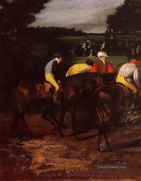 Edgar Degas Werke - Jockeys in Epsom 1862 Edgar Degas