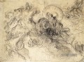 Apollo Slays Python sketch romantische Eugene Delacroix