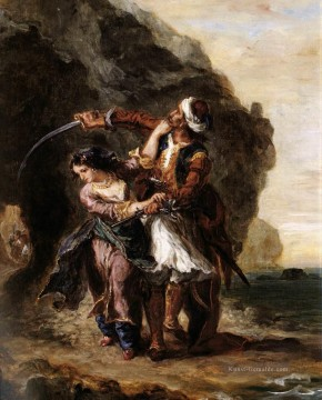 The Bride of Abydos romantische Eugene Delacroix Ölgemälde